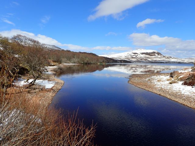 where loch Craggie and Loch Loyal meet