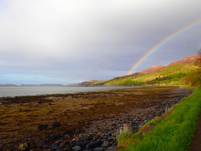 fantastic Rainbow this evening over the Watch-hill, Kyle of Tongue. The Rabbit Islands just in shot too.