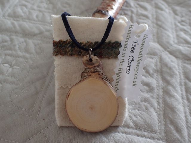 Tree Charm with new calico presentation bag and tag